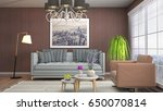 interior living room. 3d... | Shutterstock . vector #650070814