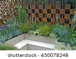 contemporary urban city garden... | Shutterstock . vector #650078248