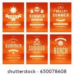 retro summer party design... | Shutterstock .eps vector #650078608