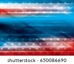 abstract bright blue and red... | Shutterstock .eps vector #650086690