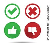 thumbs up and thumbs down  yes  ... | Shutterstock .eps vector #650088004
