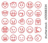 smiley icons set. set of 25... | Shutterstock .eps vector #650088334