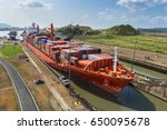 panama canal  panama   march 17 ... | Shutterstock . vector #650095678