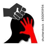 violence against women....   Shutterstock . vector #650095954
