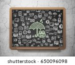 privacy concept  chalk green... | Shutterstock . vector #650096098