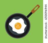 fry pan cartoon simple modern... | Shutterstock .eps vector #650096944