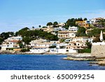 port alcudia view from sea side ... | Shutterstock . vector #650099254