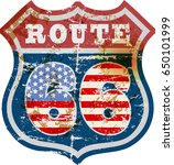 vintage route sixty six road... | Shutterstock .eps vector #650101999