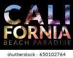 california background with palm.... | Shutterstock .eps vector #650102764