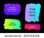 set of trendy gradient grunge ... | Shutterstock .eps vector #650103106