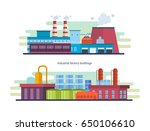buildings of an industrial and... | Shutterstock .eps vector #650106610
