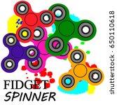 hand spinner flat vector... | Shutterstock .eps vector #650110618