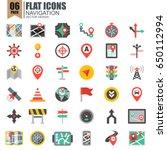 simple set of navigation flat...   Shutterstock .eps vector #650112994