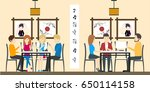 sushi bar restaurant. | Shutterstock . vector #650114158