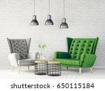 modern interior room with nice... | Shutterstock . vector #650115184