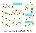 exercises for kids set. | Shutterstock . vector #650115226