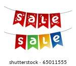 Christmas Sale garlands. - stock vector