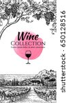 wine list design template. hand ... | Shutterstock .eps vector #650128516