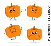 pumpkin. cute cartoon vegetable ... | Shutterstock .eps vector #650128909