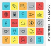 cafe icons set. collection of... | Shutterstock .eps vector #650132470