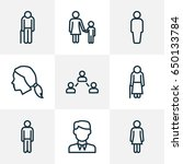 person outline icons set.... | Shutterstock .eps vector #650133784
