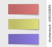 set of sticky note or office... | Shutterstock .eps vector #650133850