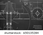 blueprints. mechanical... | Shutterstock .eps vector #650135284