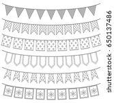 set of garlands  vector... | Shutterstock .eps vector #650137486