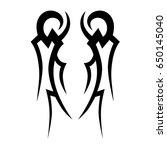 tribal tattoo art designs.... | Shutterstock .eps vector #650145040