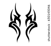 tribal pattern tattoo vector... | Shutterstock .eps vector #650145046