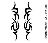 tribal tattoo art designs.... | Shutterstock .eps vector #650145088