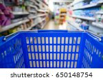 empty shopping basket in the... | Shutterstock . vector #650148754