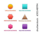 simple square  circle  hexagon  ... | Shutterstock .eps vector #650148994