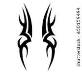 tribal tattoo art designs.... | Shutterstock .eps vector #650159494