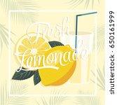 lemonade background | Shutterstock .eps vector #650161999