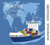 sea shipping banner template.... | Shutterstock .eps vector #650162380