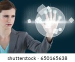 digital composite of blue back  ... | Shutterstock . vector #650165638