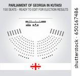 the georgian parliament seating ... | Shutterstock .eps vector #650167486