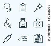 drug outline icons set.... | Shutterstock .eps vector #650168089