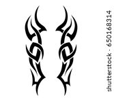 tribal tattoo art designs.... | Shutterstock .eps vector #650168314
