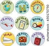 illustration of stickers label... | Shutterstock .eps vector #650170750