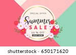 summer sale background layout... | Shutterstock .eps vector #650171620