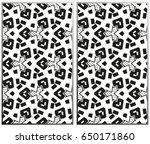 vector monochrome seamless... | Shutterstock .eps vector #650171860