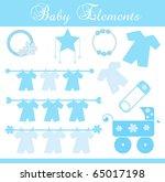 baby boy element set   Shutterstock .eps vector #65017198