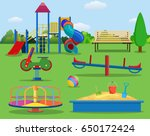 kids playground cartoon concept ... | Shutterstock .eps vector #650172424