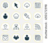 web icons set. collection of...