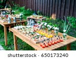 beautiful catering banquet... | Shutterstock . vector #650173240
