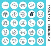 zoology icons set. collection... | Shutterstock .eps vector #650175028