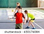 carefree kids enjoying playtime ... | Shutterstock . vector #650176084