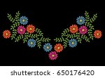 colorful embroidery stitches... | Shutterstock .eps vector #650176420